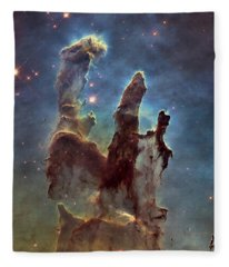 New Pillars Of Creation Hd Square Fleece Blanket