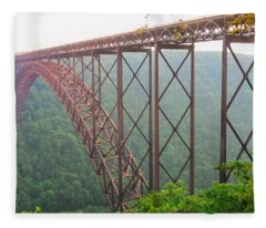 New River Gorge Bridge   Fleece Blanket