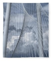 New Skyline Bridge Fleece Blanket