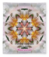 The Heart Knows Custom Fleece Blanket