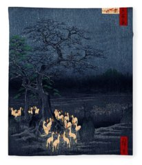 New Years Eve Foxfires At The Changing Tree Fleece Blanket