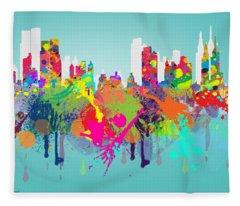 New York 7 Fleece Blanket