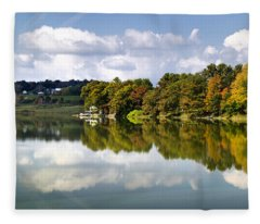 Fleece Blanket featuring the photograph New York Cincinnatus Lake by Christina Rollo