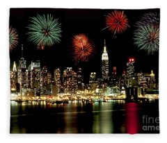 New York City Fourth Of July Fleece Blanket