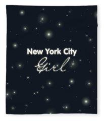 New York City Girl Fleece Blanket
