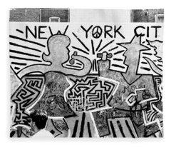 New York City Graffiti Fleece Blanket