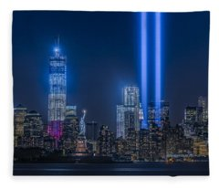 New York City Tribute In Lights Fleece Blanket