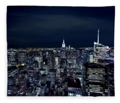 New York Evening Fleece Blanket