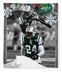 New York Jets Christmas Card Fleece Blanket
