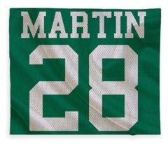 New York Jets Curtis Martin Fleece Blanket