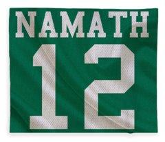 New York Jets Joe Namath Fleece Blanket
