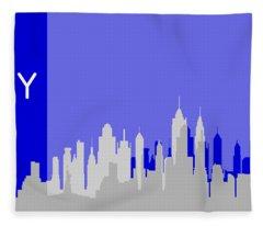 New York Shadows Fleece Blanket