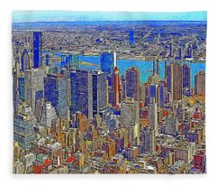 New York Skyline 20130430 Fleece Blanket