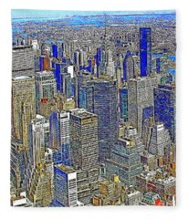 New York Skyline 20130430v2 Fleece Blanket