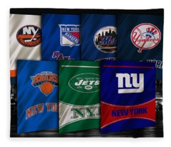 New York Sports Teams Fleece Blanket