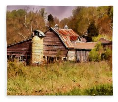 Newton Township Barn Fleece Blanket