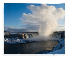 Niagara Falls Makes Its Own Weather Fleece Blanket