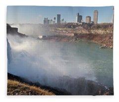 Niagara Falls Panorama Fleece Blanket