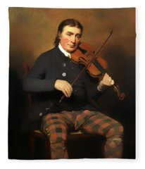 Niel Gow - Violinist And Composer Fleece Blanket