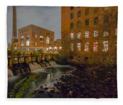Night At The River Fleece Blanket