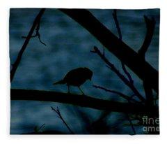 Night Bird Fleece Blanket