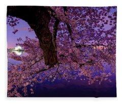 Night Blossoms Fleece Blanket