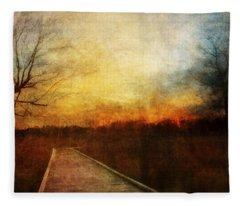 Night Falls Fleece Blanket