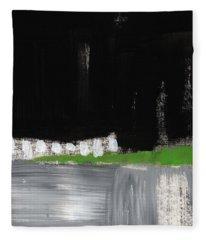 Night Horizon- Abstract Landscapeart Fleece Blanket