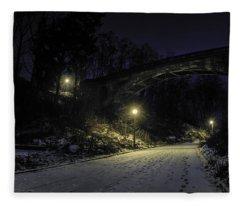 Night Hushed The Shadowy Earth Fleece Blanket