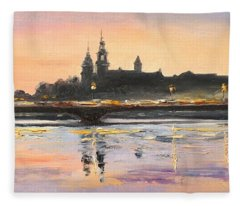 Night In Krakow Fleece Blanket