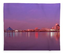 Night Memphis Tn Fleece Blanket