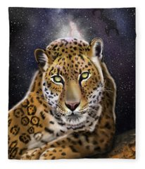 Fourth Of The Big Cat Series - Leopard Fleece Blanket