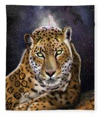 Fourth Of The Big Cat Series - Leopard Fleece Blanket
