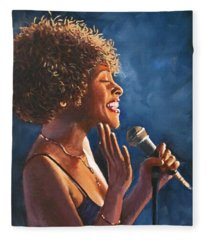 Nightclub Singer Fleece Blanket