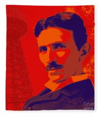 Nikola Tesla #1 Fleece Blanket