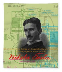 Nikola Tesla #3 Fleece Blanket