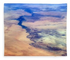 Nile River From The Iss Fleece Blanket