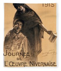 Nivernaise Day For The War Disabled Fleece Blanket