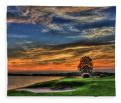 No Better Day Golf Landscape Art Fleece Blanket