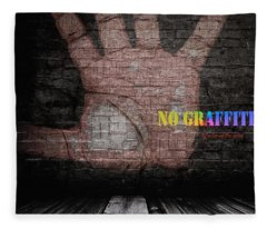 No Graffiti Fleece Blanket
