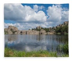 Sylvan Lake South Dakota Fleece Blanket
