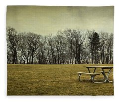 No More Picnics Fleece Blanket