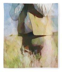 No Useless Cares - Panoramic Fleece Blanket