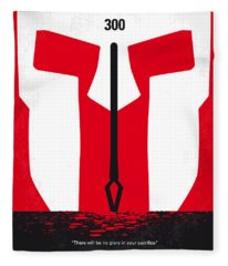No001 My 300 Minimal Movie Poster Fleece Blanket