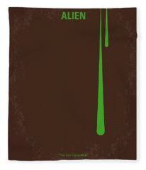 No004 My Alien Minimal Movie Poster Fleece Blanket