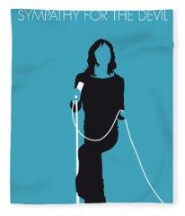 No005 My The Stones Minimal Music Poster Fleece Blanket