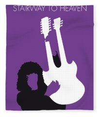 No011 My Led Zeppelin Minimal Music Poster Fleece Blanket