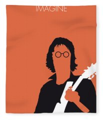 No013 My John Lennon Minimal Music Poster Fleece Blanket