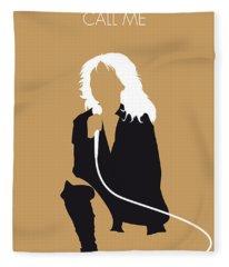 No030 My Blondie Minimal Music Poster Fleece Blanket