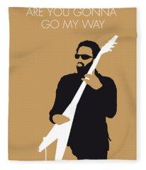 No050 My Lenny Kravitz Minimal Music Poster Fleece Blanket